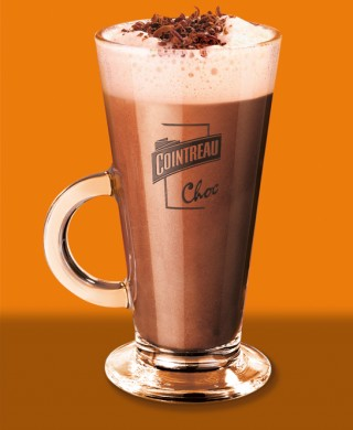 Cointreau hot chocolate glass