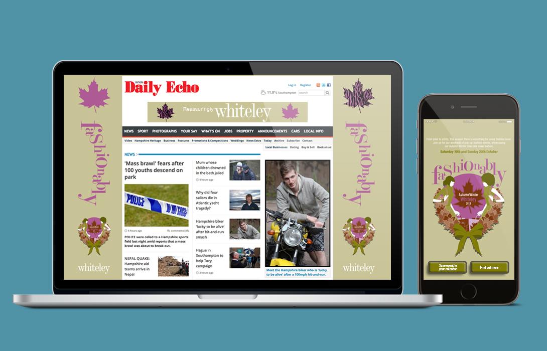 Whiteley fashion campaign Digital