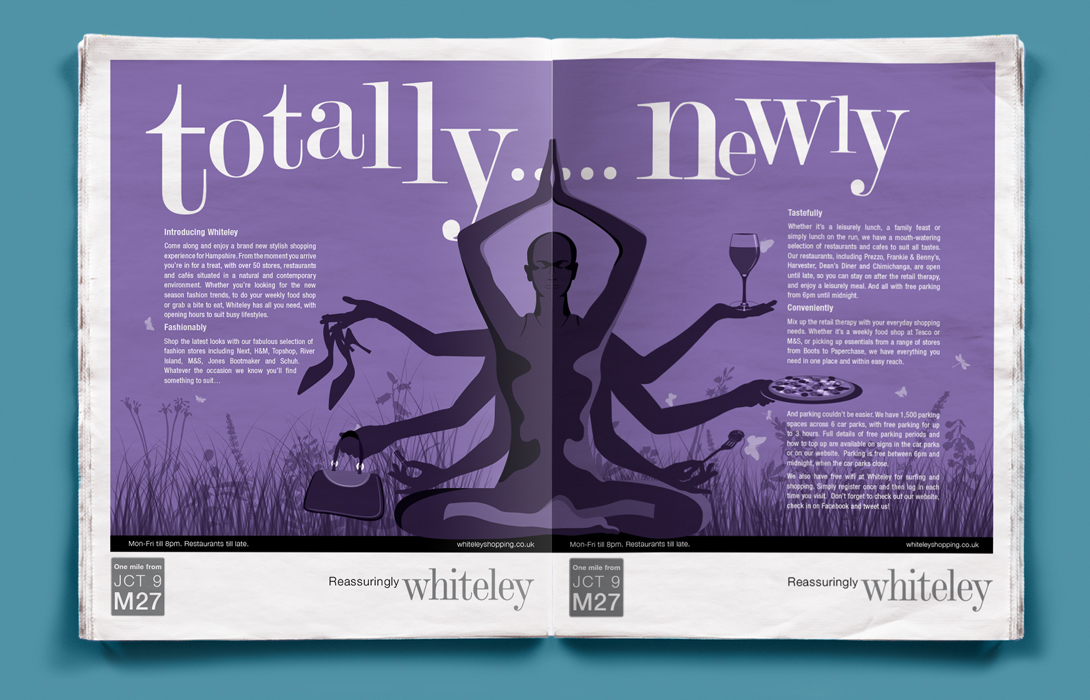 Whiteley newspaper ad