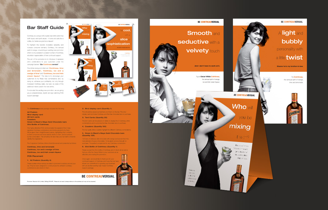 Cointreau advertising point of sale