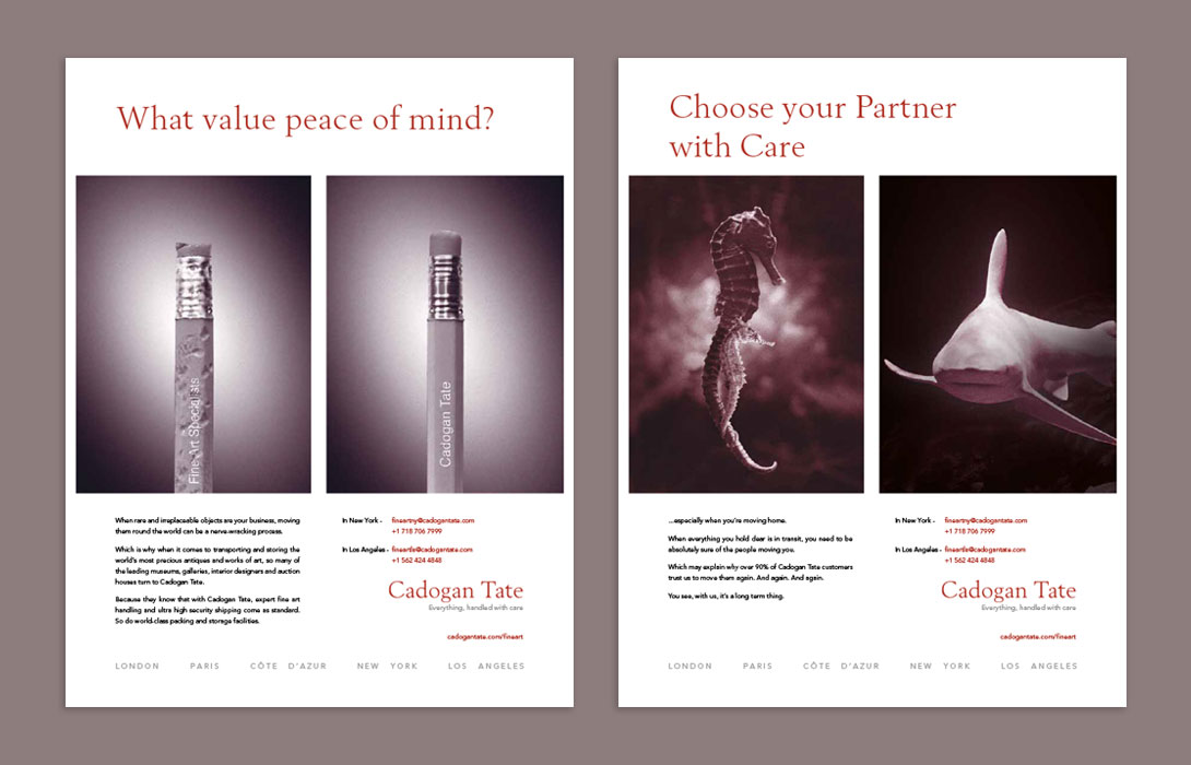 Cadogan Tate campaigns adverts pencil fish