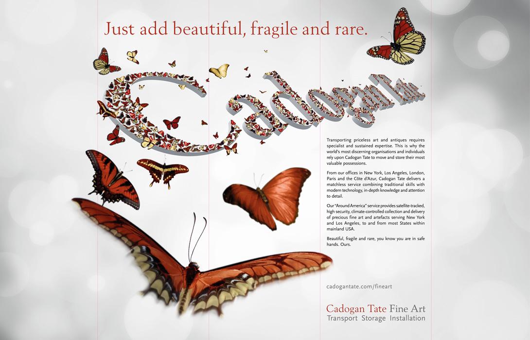 Cadogan Tate branding and artwork