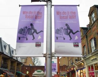 Ealing Broadway banner advert