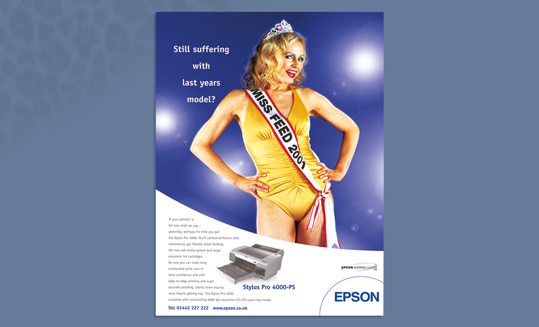 Epson advert colour miss feed pageant