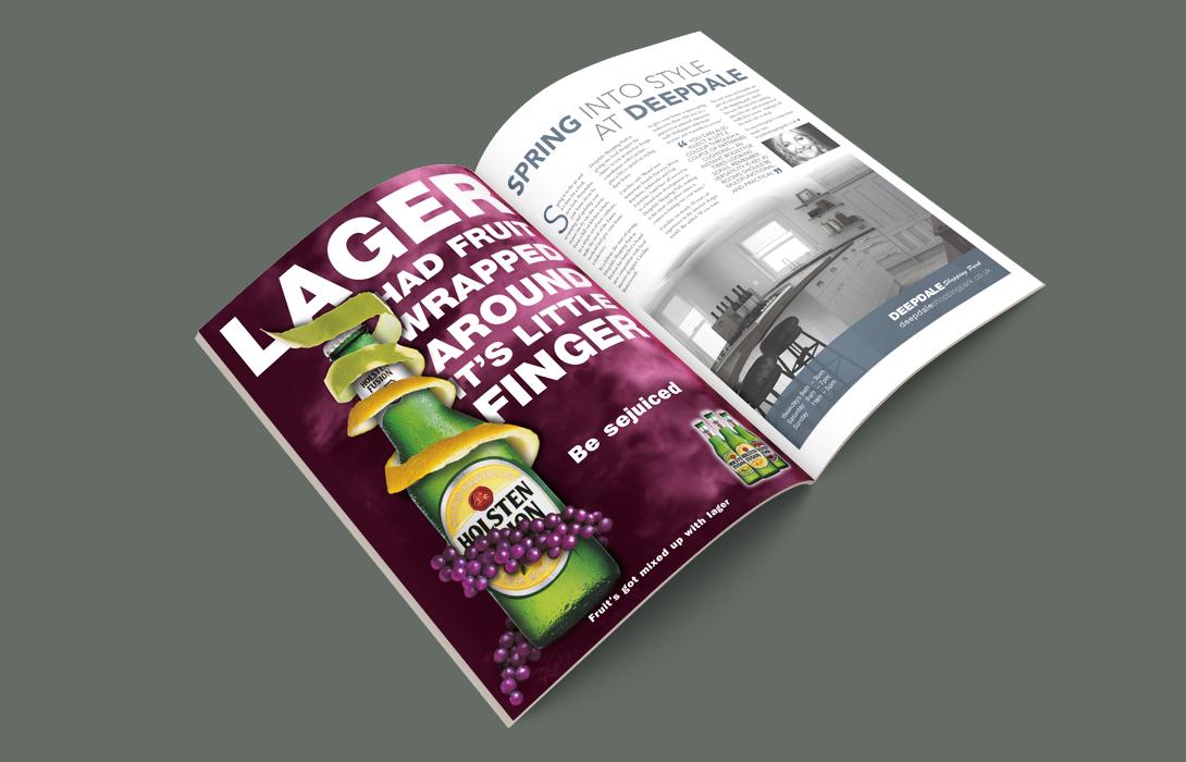 Holsten campaign magazine ad
