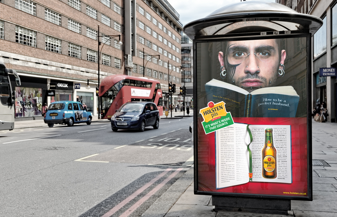 Holsten campaign bus stop ad