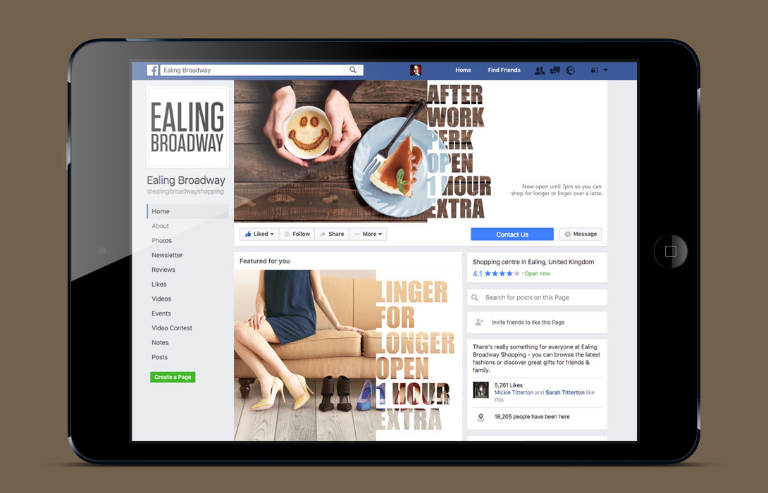 Ealing Broadway Rebrand campaign social examples