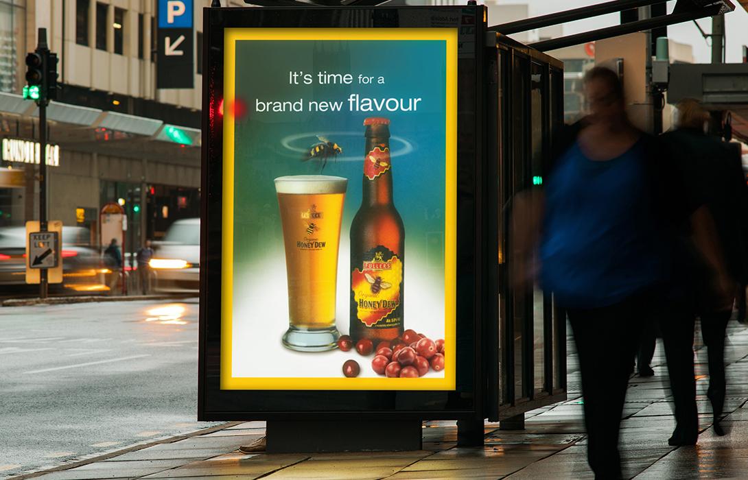 Honey Dew advertising campaign bus stop