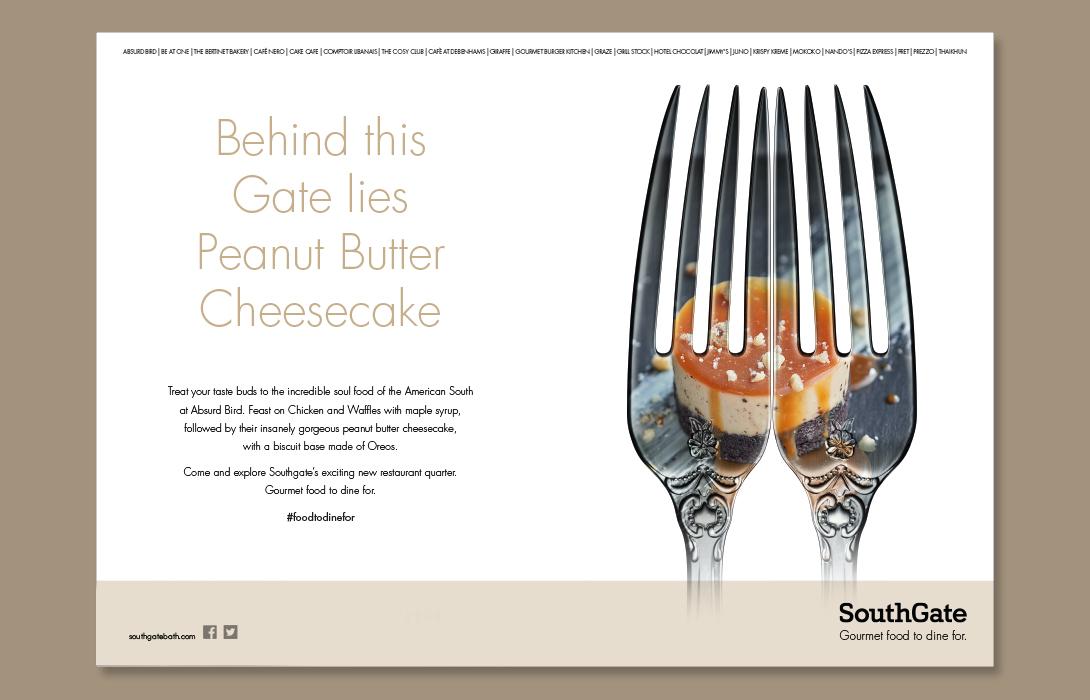 SouthGate Food campaign Creative Design Peanut Butter