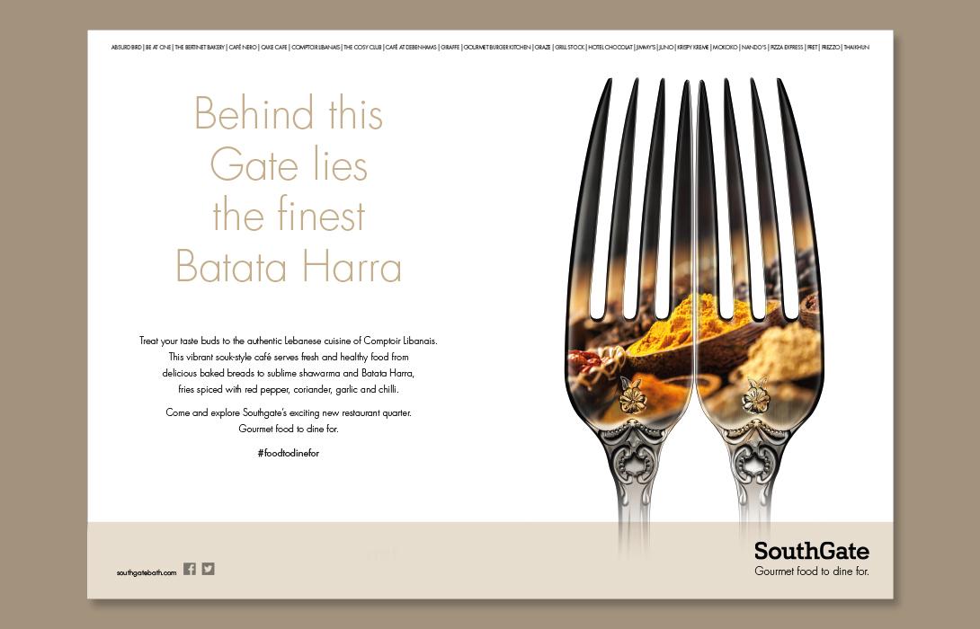 SouthGate Food campaign Creative Design Batata Harra 1