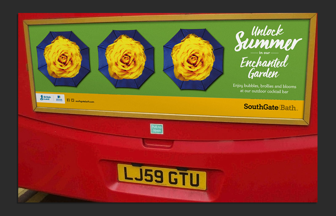 SouthGate Summer Enchanted Garden bus back