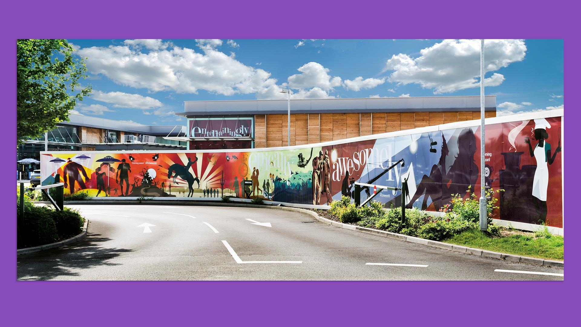 Whiteley Cineworld launch hoarding artwork