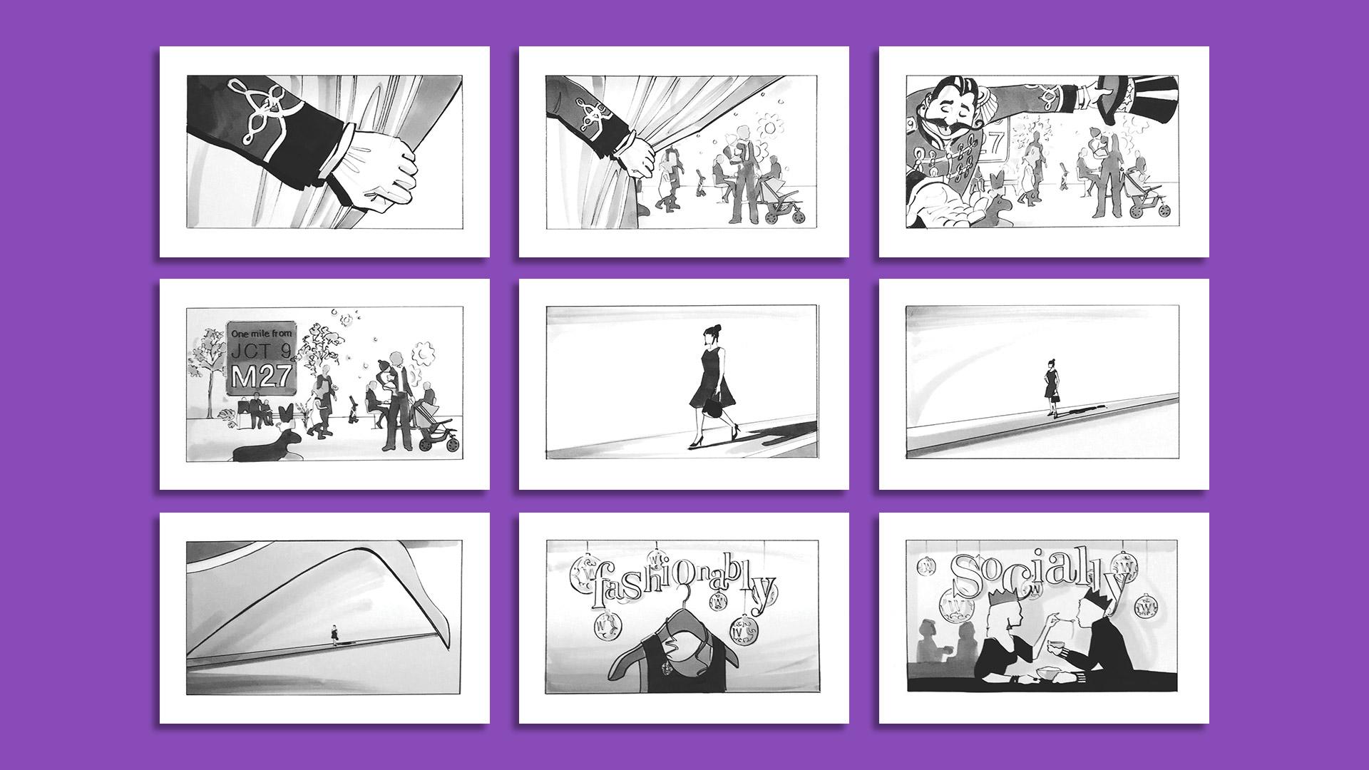 Whiteley Cineworld launch TVC storyboard