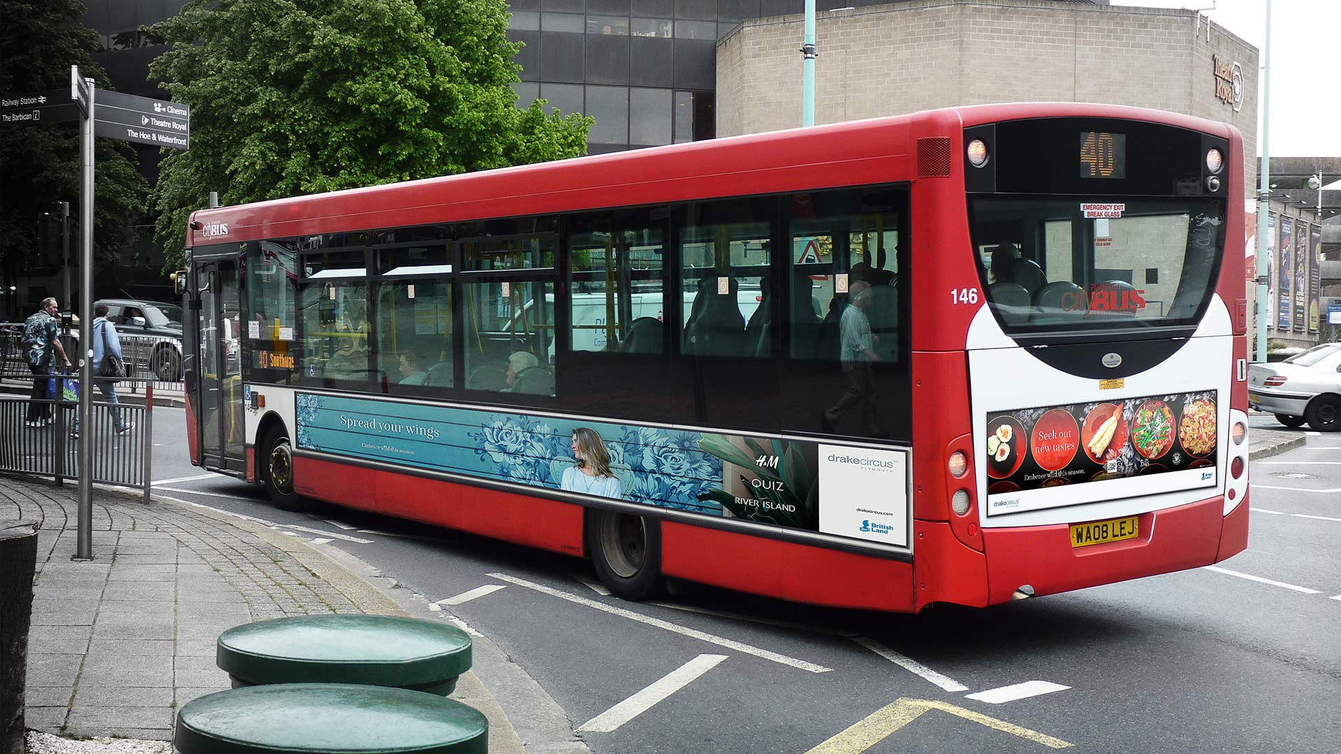 Drake Circus Summer bus side and back