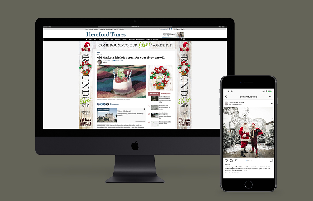 Old Market Christmas web and mobile