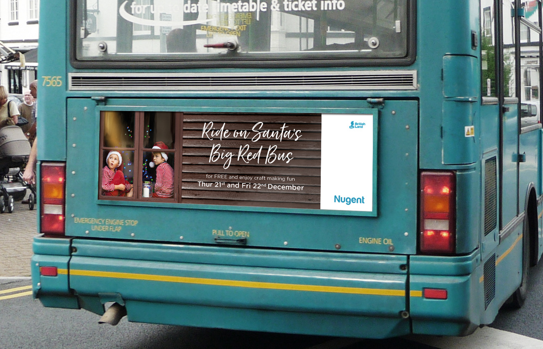 Perfectly placed campaign bus rear