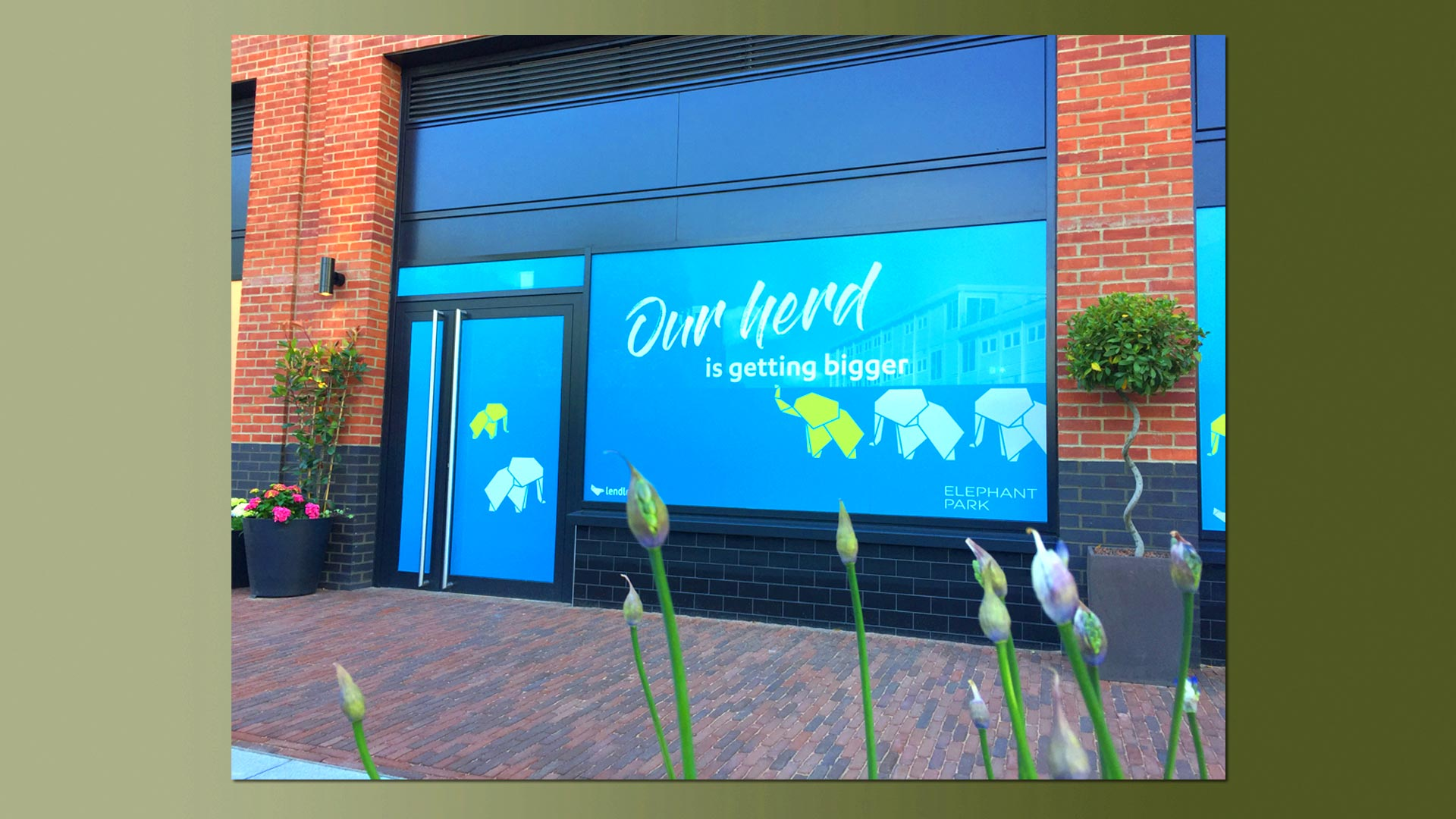 Elephant park Sayer Street window vinyls 7