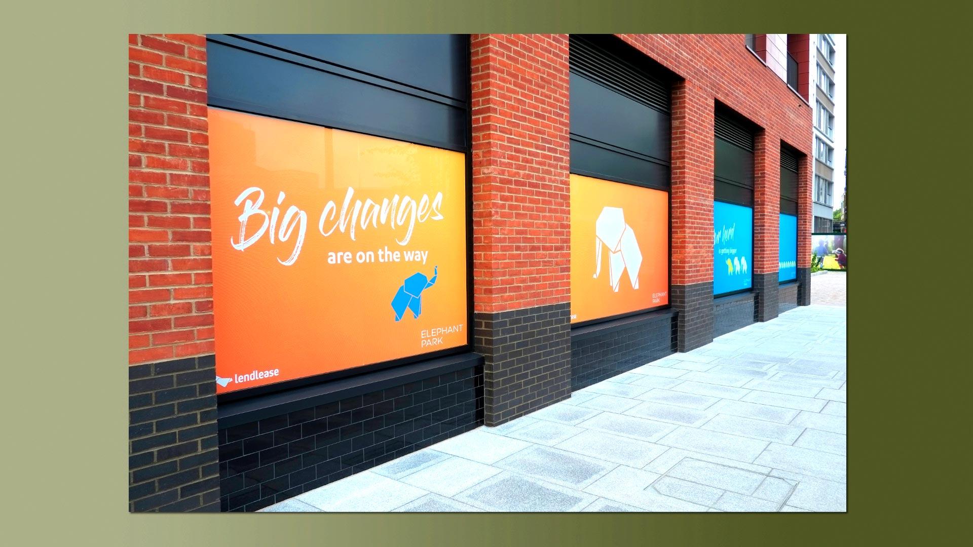 Elephant park Sayer Street window vinyls 6