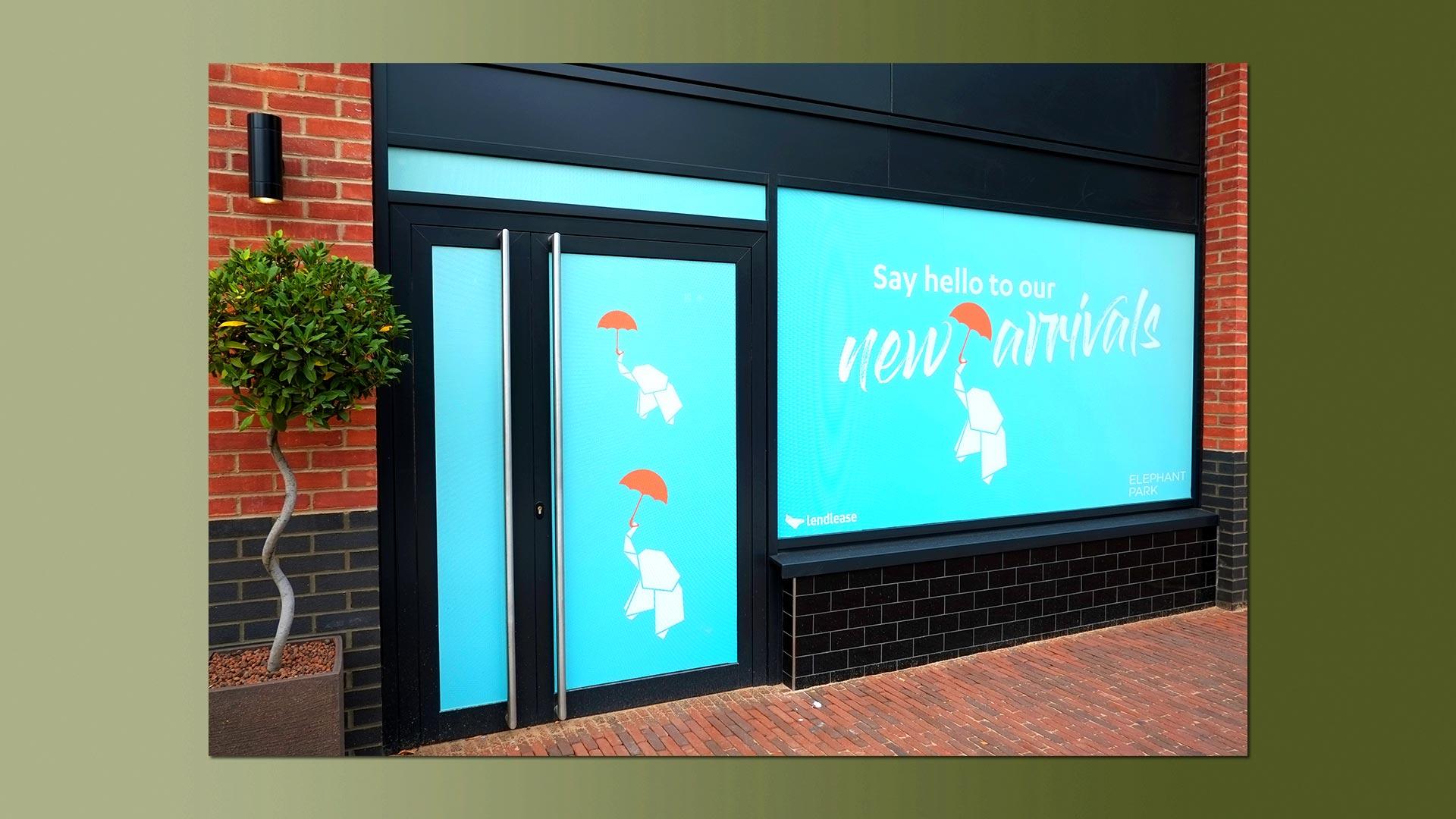 Elephant park Sayer Street window vinyls 4